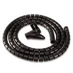 Канал-органайзер для кабелей Fellowes (Феллоуз) CableZip, 2 м, диаметр - 20 мм, черный, FS-99439