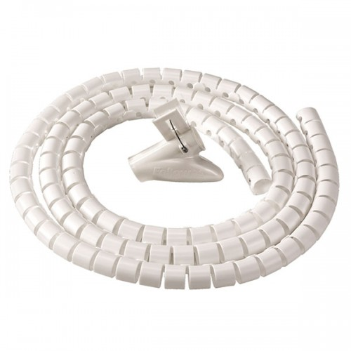 Канал-органайзер для кабелей Fellowes (Феллоуз) CableZip, 2 м, диаметр - 20 мм, белый, FS-99299