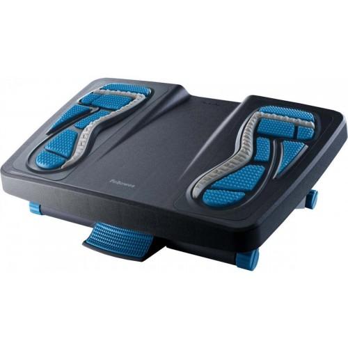 Подставка для ног массажная Fellowes (Феллоуз) Energizer, пластик, черный/синий FS-80680