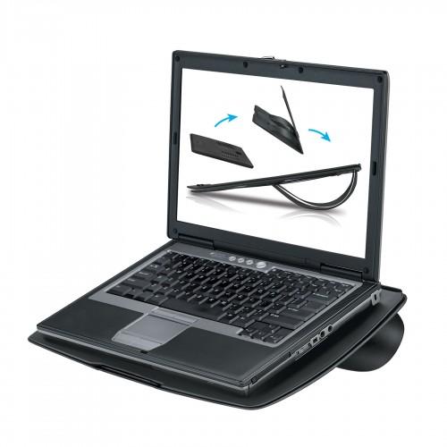 Подставка портативная для ноутбука Fellowes (Феллоуз) Go Riser 8 мм толщины вентиляция черная FS-8030402