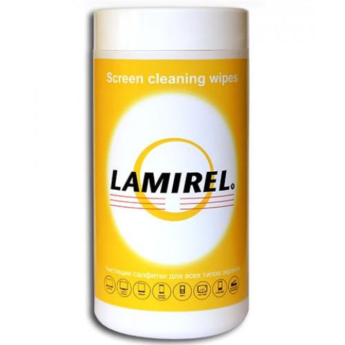 Салфетки чистящие Lamirel для экранов, туба 100 шт. LA-11440