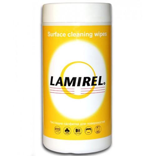 Салфетки чистящие Lamirel для поверхностей, туба 100 шт. LA-51440