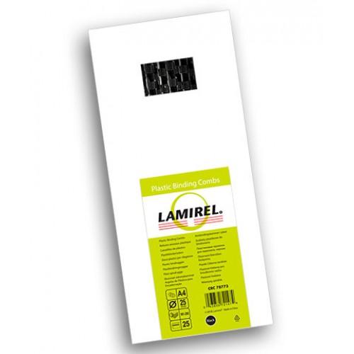 Пружина пластиковая для переплёта Lamirel 25 мм черные 25 шт./уп. LA-78773