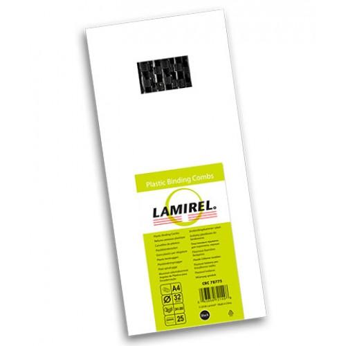 Пружина пластиковая для переплёта Lamirel 32 мм черные 25 шт./уп. LA-78775