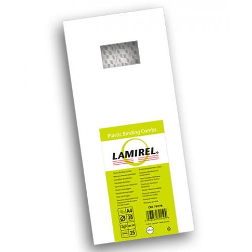 Пружина пластиковая для переплёта Lamirel 38 мм белые 25 шт./уп. LA-78776