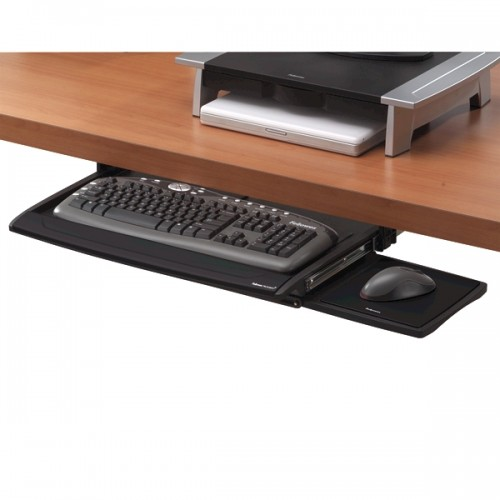 Подставка для клавиатуры и мыши Deluxe Fellowes (Феллоуз) Office Suites pегулируемая высота черная FS-8031201