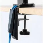 """Кронштейн для 2-х мониторов Fellowes (Феллоуз) Platinum горизонтальный, до 27"""", до 9 кг каждый, газлифт FS-80425"""