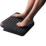 Подставка для ног пластиковая Fellowes (Феллоуз) Standard регулировка высоты массажная поверхность черная FS-48121