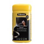 Салфетки чистящие Fellowes (Феллоуз) для экранов в тубе дерматологические безопасные 100 шт./уп. UK FS-99703