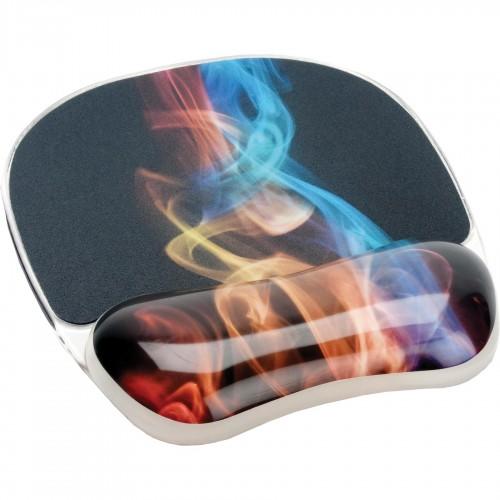 Коврик для мыши Fellowes (Феллоуз) c гелевой подкладкой для руки Радужный Дым Photo Gel нескользящее основание FS-9204001