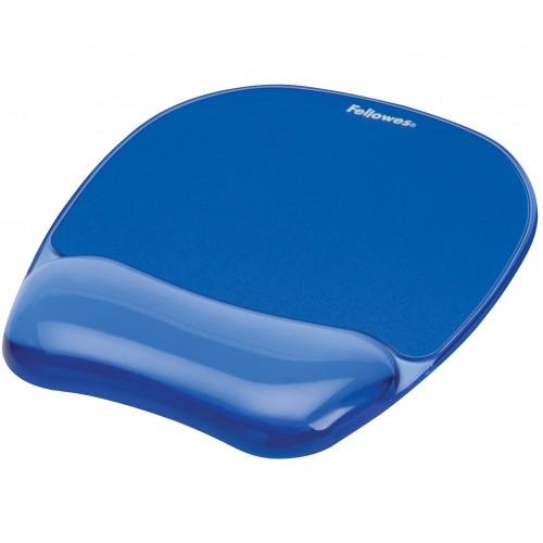 Коврик для мыши Fellowes (Феллоуз) с гелевой подкладкой для руки голубой FS-91141
