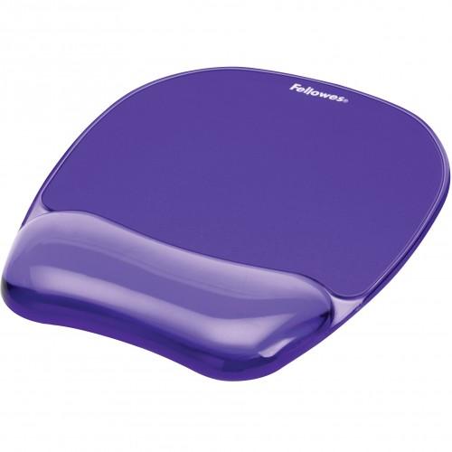 Коврик для мыши Fellowes (Феллоуз) с гелевой подкладкой для руки фиолетовый FS-91441