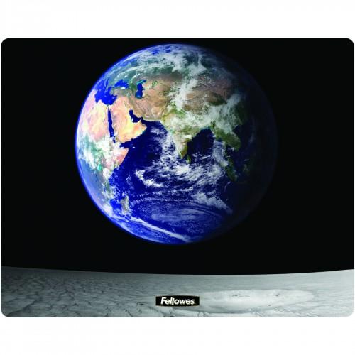 Коврик для оптической и лазерной мыши Fellowes (Феллоуз) Земля и Луна нескользящее основание трехслойная UK FS-58715