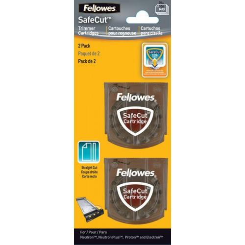 Набор ножей для резаков Fellowes (Феллоуз) Neutron Proton и Electron 2 шт./уп. (прямая резка) FS-5411401