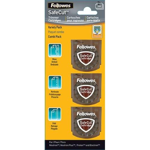 Набор ножей для резаков Fellowes (Феллоуз) Neutron Proton и Electron 3 шт./уп. (биговка, пунктир, волна) FS-5411301
