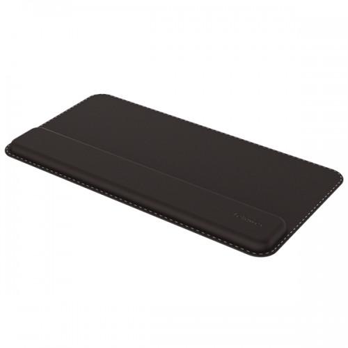 Подкладка под клавиатуру Fellowes (Феллоуз) Hana премиальная, нат. кожа, поддержка запястья с эффектом памяти, черная FS-80556