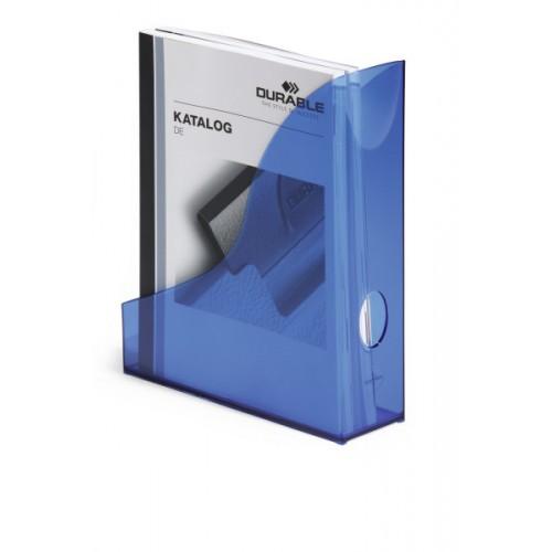 Лоток для бумаг вертикальный Durable Basic, прозрачно-синий , арт.D1701712540