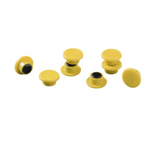 Магнит Durable с цветной шляпкой, 15 мм, желтый, арт.D4751-04