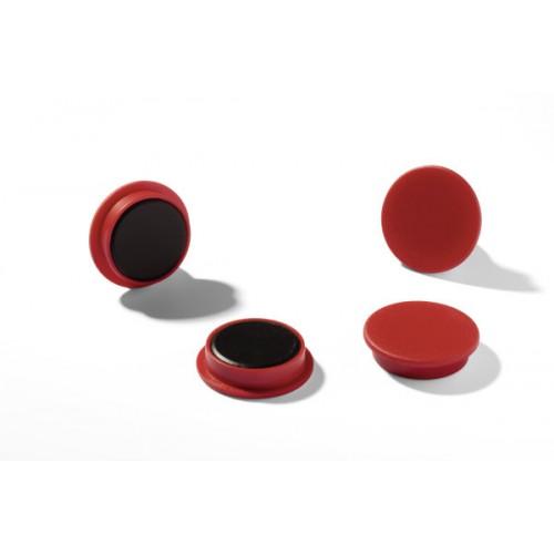 Магнит Durable с цветной шляпкой, 21 мм, красный, арт.D4752-03
