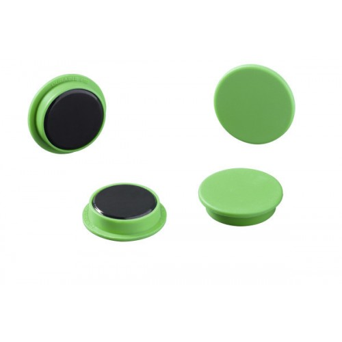 Магнит Durable с цветной шляпкой, 21 мм, зеленый, арт.D4752-05