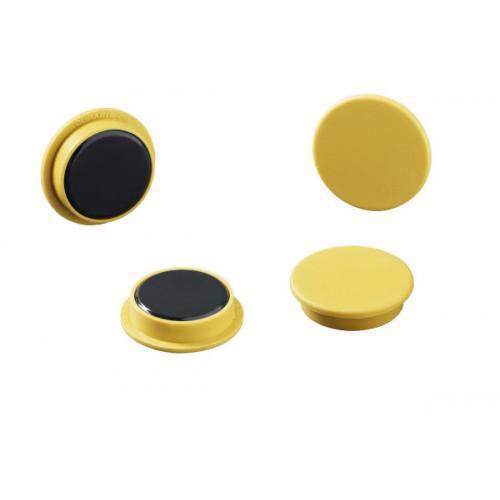 Магнит Durable с цветной шляпкой, 32 мм, желтый, арт.D4753-04