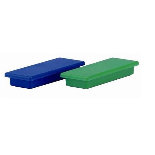 Магнит прямоугольный Durable, 57,5х22,5х8,5 мм, синий, арт.D4760-06