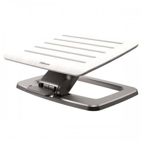 Подставка для ног Fellowes (Феллоуз) Hana премиальная, дерево/металл,2 положения высоты, подвиж. платформа, белая FS-80558