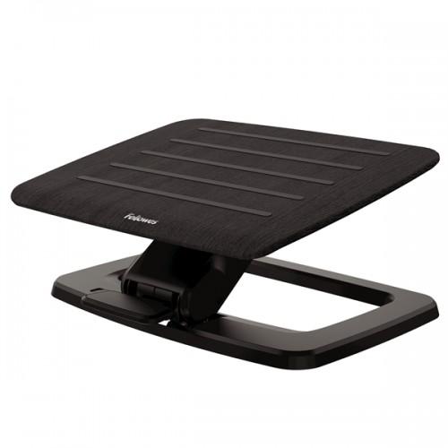 Подставка для ног Fellowes (Феллоуз) Hana премиальная, дерево/металл,2 положения высоты, подвиж. платформа, черная FS-80552