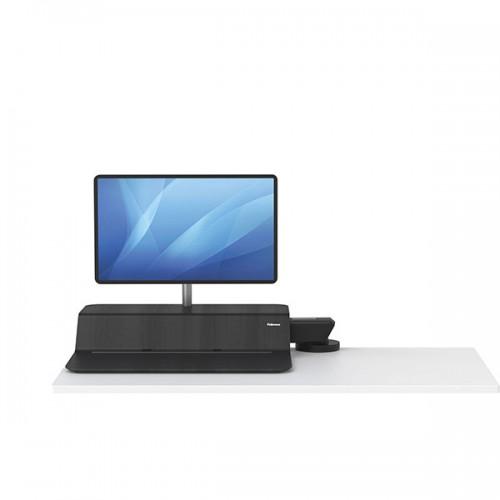 Платформа для работы сидя - стоя Fellowes (Феллоуз) Lotus RT Sit-Stand Workstation, черная, для 1 монитора FS-80815