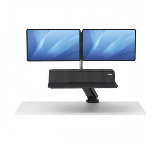 Платформа для работы сидя - стоя Fellowes (Феллоуз) Lotus RT Sit-Stand Workstation, черная, для 2 мониторов FS-80816