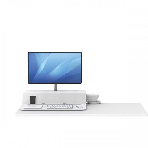 Платформа для работы сидя - стоя Fellowes (Феллоуз) Lotus RT Sit-Stand Workstation, белая, для 1 монитора FS-80817