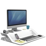 Платформа для работы сидя-стоя Fellowes (Феллоуз) Lotus Sit-Stand Workstation, белая FS-00099
