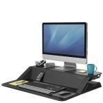 Платформа для работы сидя-стоя Fellowes (Феллоуз) Lotus Sit-Stand Workstation, черная FS-00079
