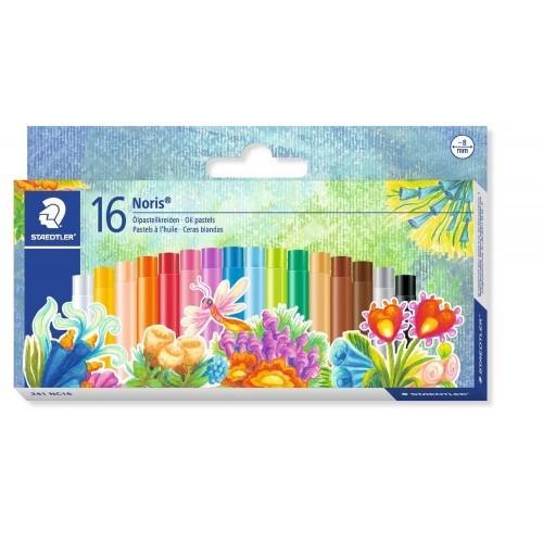 Набор масляной пастели Staedtler Noris Club, 16 цветов, 8 мм, арт.ST241NC16