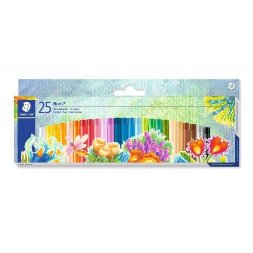 Набор масляной пастели Staedtler Noris Club, 25 цветов, 8 мм, арт.ST241NC25