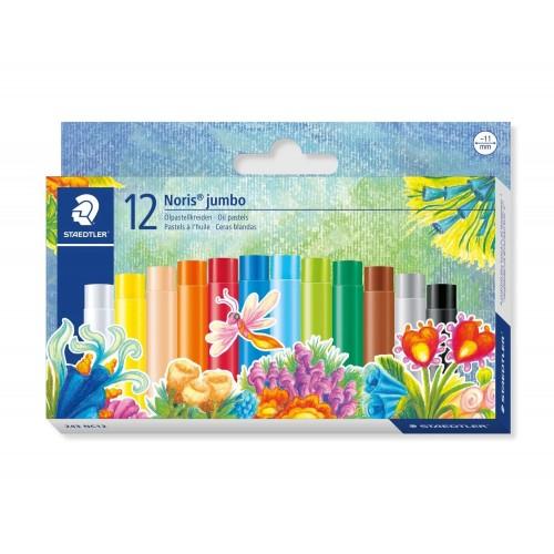 Набор масляной пастели Staedtler Noris Club jumbo, 12 цветов, 11 мм, арт.ST243NC12