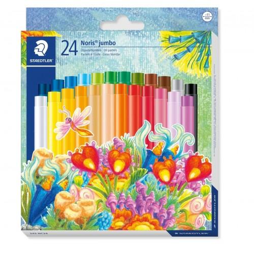 Набор масляной пастели Staedtler Noris Club jumbo, 24 цвета, 11 мм, арт.ST243NC24