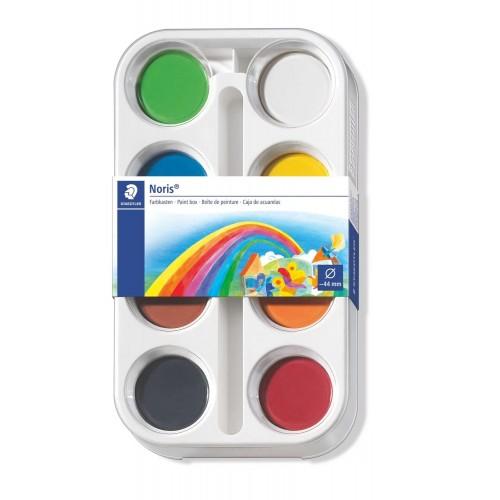 Hабор акварельных красок Staedtler 8 шт. в наборе, пластиковая коробка, арт.ST8870K8