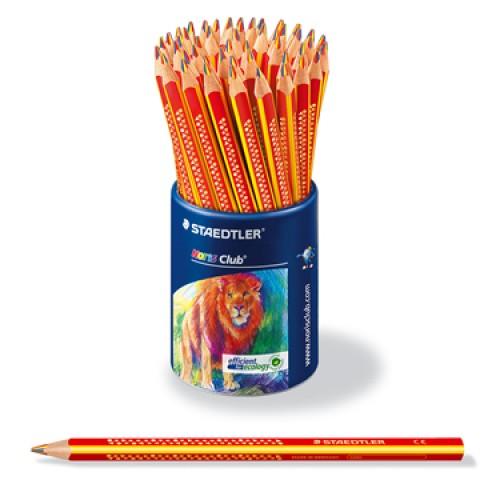 Дисплей цветных карандашей Staedtler Noris Club, треугольные, 3 в 1, 50 шт. в пластиковом стакане, арт.ST1274KP50