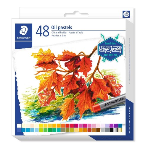 Масляная пастель Staedtler Karat, 11 мм, 48 цветов, арт.ST2420C48