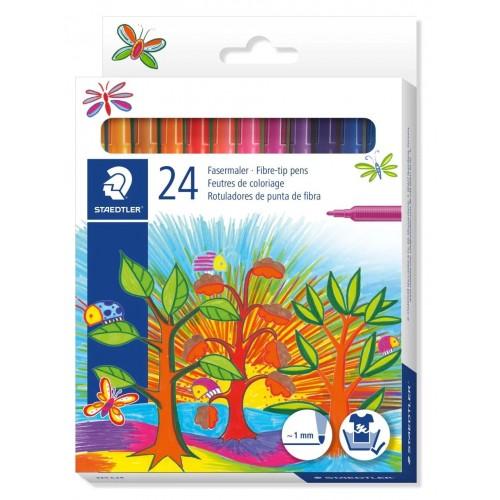 Набор фломастеров Staedtler Noris Club, 24 цвета, картон, арт.ST325C24