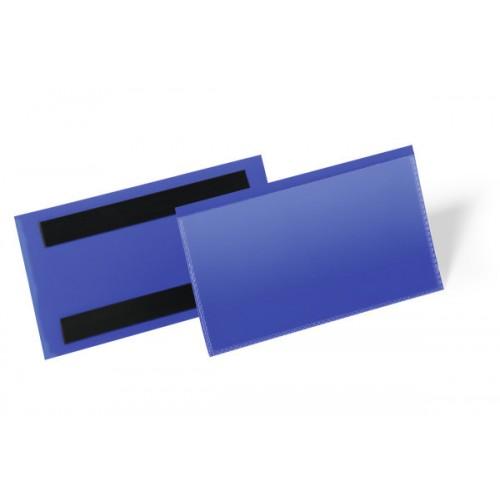 Карман для маркировки Durable, с магнитом, 150х67 мм, синий, арт.D1742-07