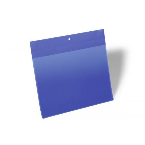 Карман для маркировки Durable, А4  горизонтальный, c магнитом, синий, арт.D1748-07