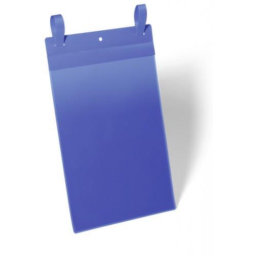 Карман с ремешком застежкой Durable, А4, вертикальный, синий, арт.D1750-07