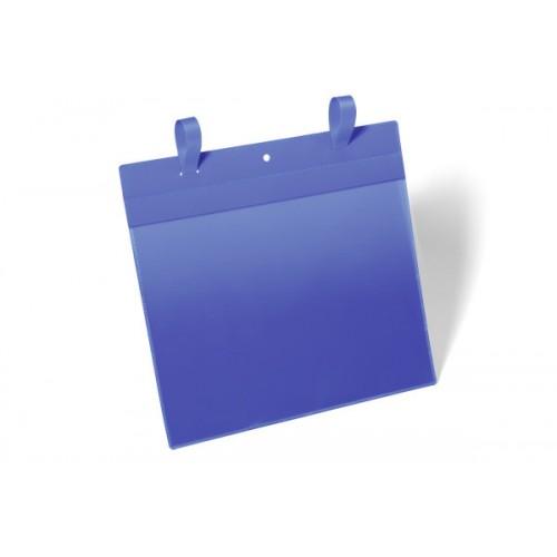 Карман с ремешком застежкой Durable, А4, горизонтальный, синий, арт.D1751-07