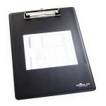 Доска планшет Durable, А4, с металлическим прижимом, черная, арт.D2350-01