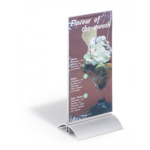 Информационная табличка настольная Durable Presenter,1/3 А4, с алюминиевым основанием, арт.D8587-19