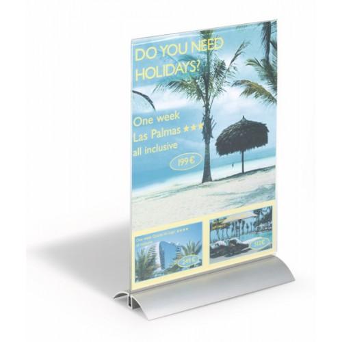Информационная табличка настольная Durable Presenter, 212х323х85 мм, акрил, арт.D8589-19