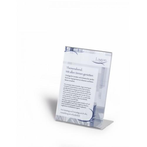 Информационная табличка настольная Durable, А4,  L-образная, арт.D8596-19