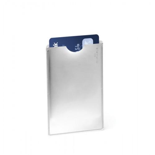 Карман для кредитной карты Durable Rfid Secure, серебристый, арт.D8900-23